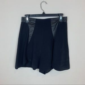 Urban Outfitters High Rise Silk Shorts Black Sz 4